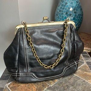 Hype Vintage Black Leather Bag